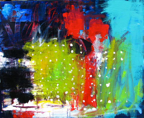 Small abstract of brisbane city lights