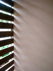 Light and shade on wall