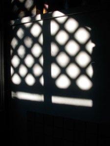 Shadow pattern on wall