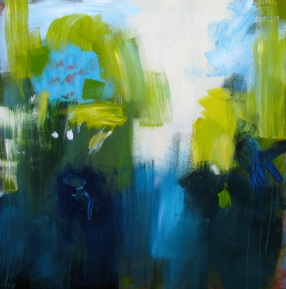 An abstraction depicting the memories of walking in rainforest
