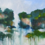 watery landscape painting