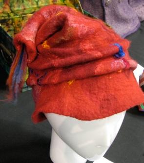 a red felt hat