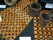 woven fabric and small baskets