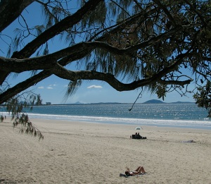 Beach at Mooloolaba