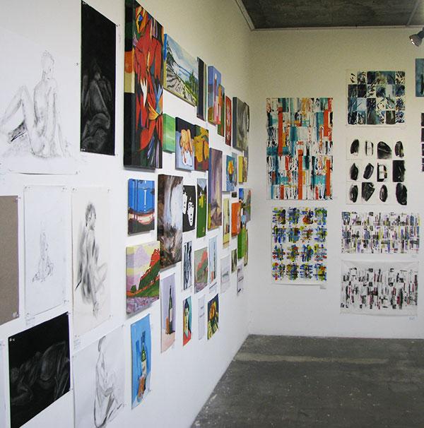 A corner of artworks