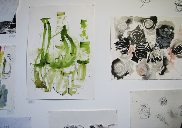 Watercolours and drawing
