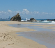 Beach and Currumbin Rocks