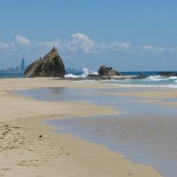 Beach and Currumbin Rocks