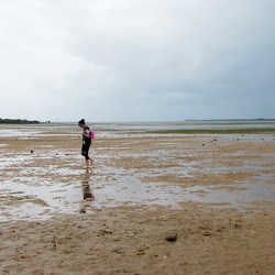 Walking through the littoral area