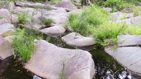 Rocks and creek