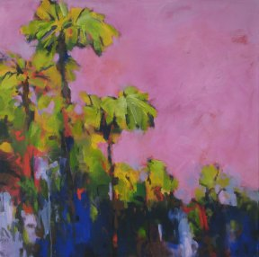 Bangalow evening 76x76cm $950