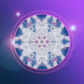Crystal Christmas Lights mandala