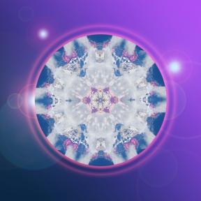 Crystal Christmas Lights mandala