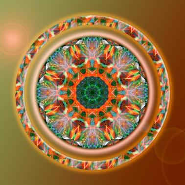 Jacobean lily Christmas mandala