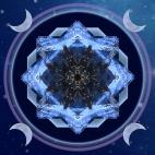 Seahorse moon mandala
