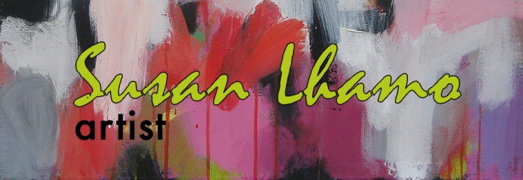 Pink and white abstract banner