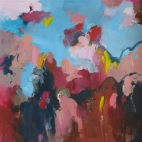 Cliff, mountain, sky 76x76cm $950
