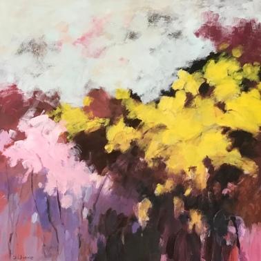 """""""Impression: winter garden"""" SOLD 91x91cm"""